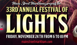 Main Street Markham Host 33rd Festival of Lights