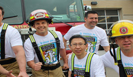 Markham Firefighters Get Funky for Festival Run for MSH