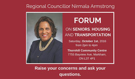 Forum on Seniors, Housing and Transportation